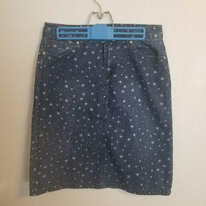Cato denim skirt with stars size 8 (LL0723)